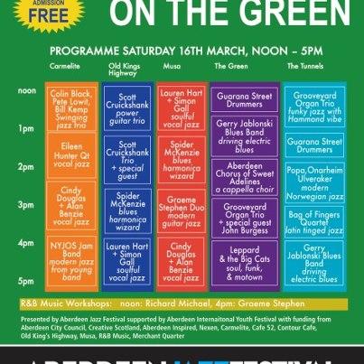 Jazz on the Green in Aberdeen :)